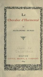 Cover of: Le chevalier d'Harmental