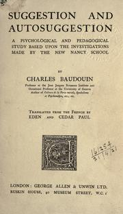 Cover of: Suggestion et autosuggestion