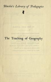 Cover of: The teaching of geography