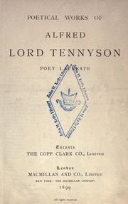 Poetical Works Of Alfred Lord Tennyson Poet Laureate 1899