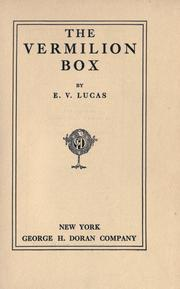 Cover of: The vermilion box