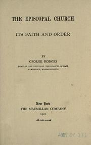 Cover of: The Episcopal church