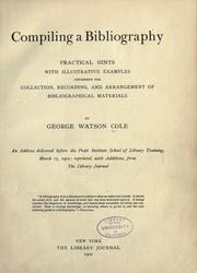 Cover of: Compiling a bibliography