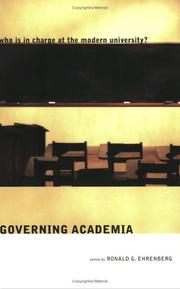 Cover of: Governing Academia | Ronald G. Ehrenberg