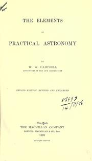 Cover of: The elements of practical astronomy