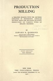 Cover of: Production milling