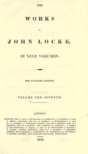 The works of John Locke by John Locke