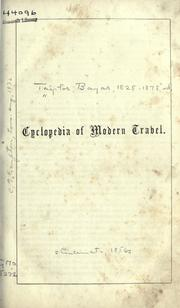 Cover of: Cyclopaedia of modern travel
