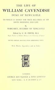 Cover of: The life of William Cavendish
