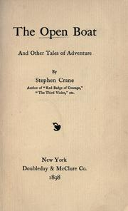 Cover of: The open boat, and other tales of adventure