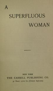 Cover of: A superfluous woman