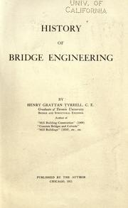 Cover of: History of bridge engineering | H. G. Tyrrell