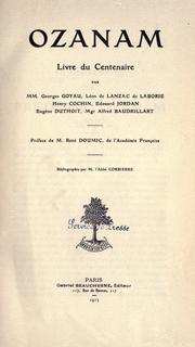 Cover of: Ozanam