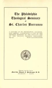 Cover of: The Philadelphia Theological Seminary of St. Charles Borromeo |