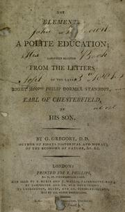 Cover of: Elements of a polite education