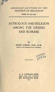 Cover of: Astrology and religion among the Greeks and Romans | Franz Valery Marie Cumont