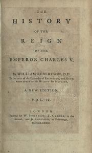 Cover of: The history of the reign of the Emperor Charles 5.