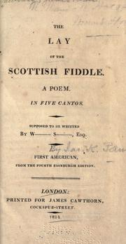 Cover of: The lay of the Scottish fiddle