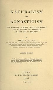 Naturalism and agnosticism by Ward, James