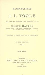 Reminiscences of J.L. Toole by John Lawrence Toole