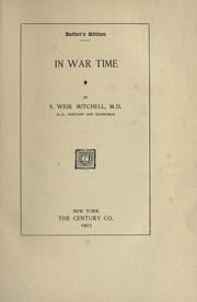 Cover of: In war time