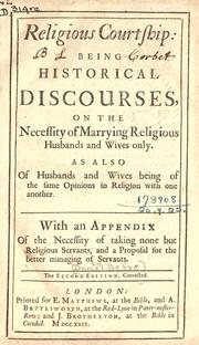 Cover of: Religious courtship