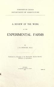 A review of the work of the experimental farms by James Burns Spencer