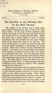 Cover of: The sacrifice to the morning star by the Skidi Pawnee