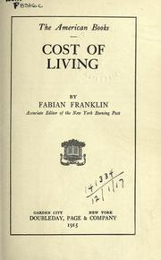 Cost of living by Fabian Franklin