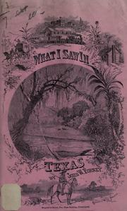 Cover of: What I saw in Texas