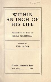 Cover of: Within an Inch of His Life