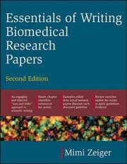 Cover of: Essentials of Writing Biomedical Research Papers | Mimi Zeiger