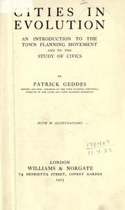 Cover of: Cities in evolution | Sir Patrick Geddes