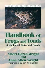 Cover of: Handbook of frogs and toads of the United States and Canada