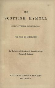 Cover of: The Scottish hymnal