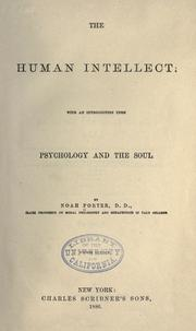 The human intellect by Porter, Noah