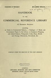 Cover of: Handbook to the Commercial reference library | Liverpool (England). Public Libraries, Museums and Art Gallery. Library.