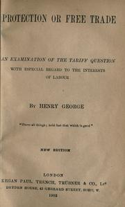 Protection or free trade by George, Henry