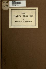 Cover of: The happy teacher