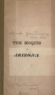 Cover of: The Moquis of Arizona