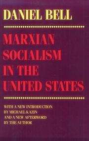 Cover of: Marxian socialism in the United States