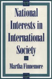 Cover of: National interests in international society