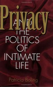 Cover of: Privacy and the politics of intimate life