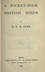 Cover of: A pocket-book of British birds