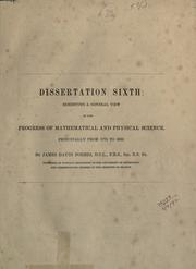 Cover of: Dissertation sixth