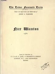 Cover of: Nice wanton.  1560 |