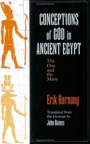 Cover of: Conceptions of God in Ancient Egypt: the one and the many