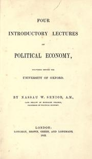 Cover of: Four introductory lectures on political economy