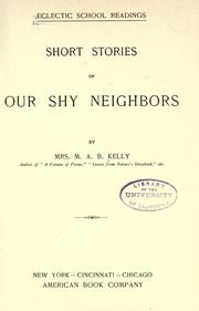 Cover of: Short stories of our shy neighbors