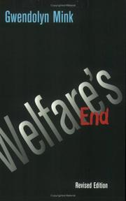 Cover of: Welfare's end